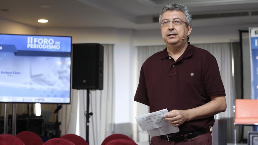 Enrique Fárez presenta el novedoso proyecto 'Nekuni' en el II Foro de Periodismo de Canarias Ahora