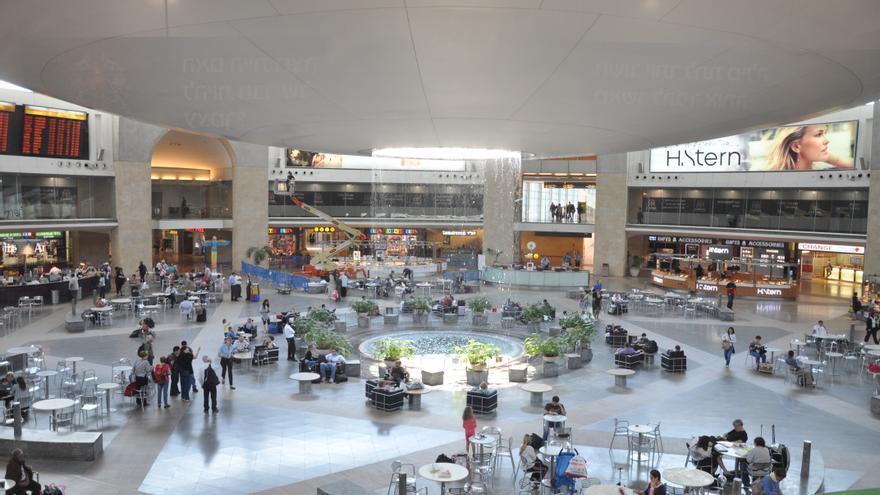 Interior del Aeropuerto de Tel Aviv Ben Gurion