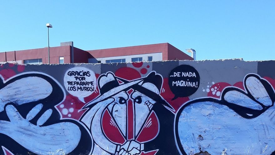 Grafiti en Gran Canaria.
