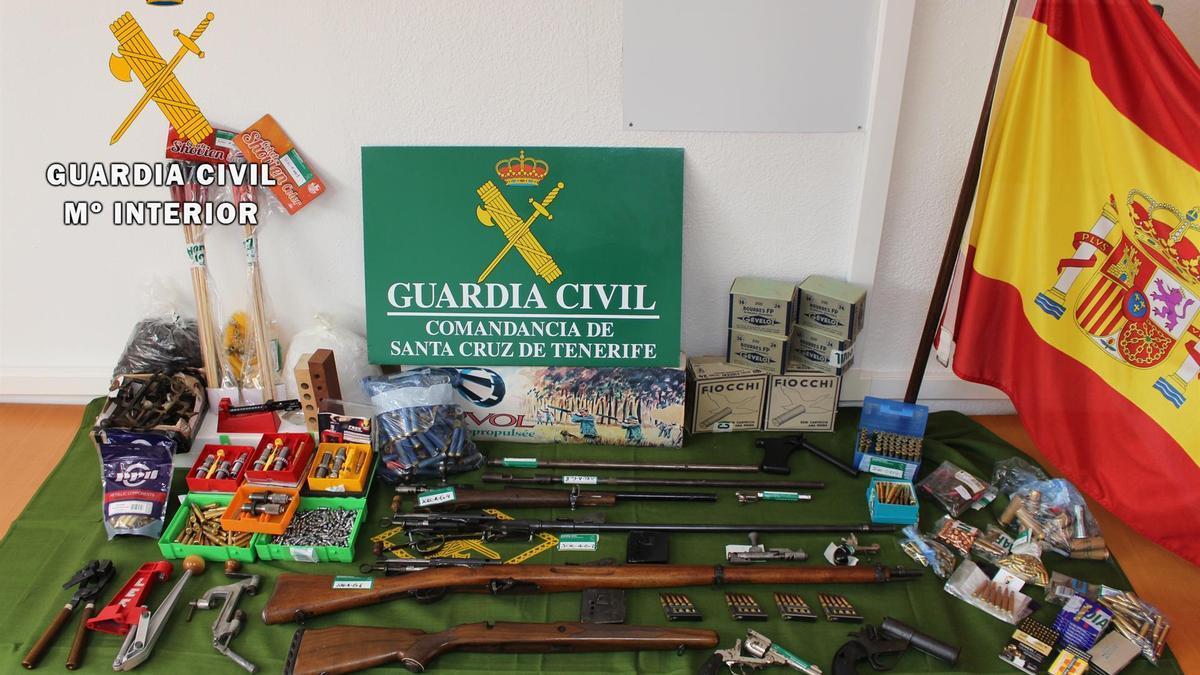 Armas de fuego intervenidas - GUARDIA CIVIL