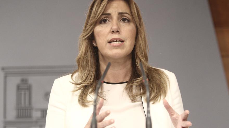 Susana Díaz critica que el PP-A le exija explicaciones en el Parlamento sobre los ERE cuando ella no estaba en la Junta