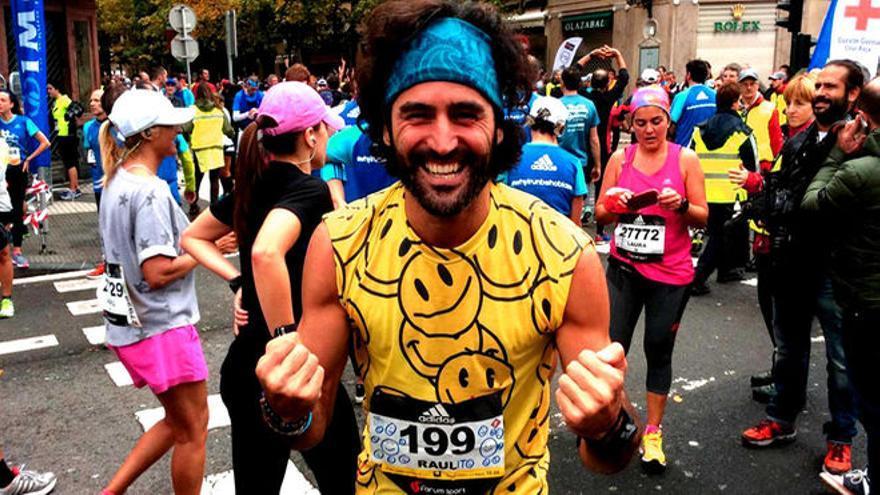 El 'Maraton man' Raúl Gómez. Foto:Vertele/eldiario.es