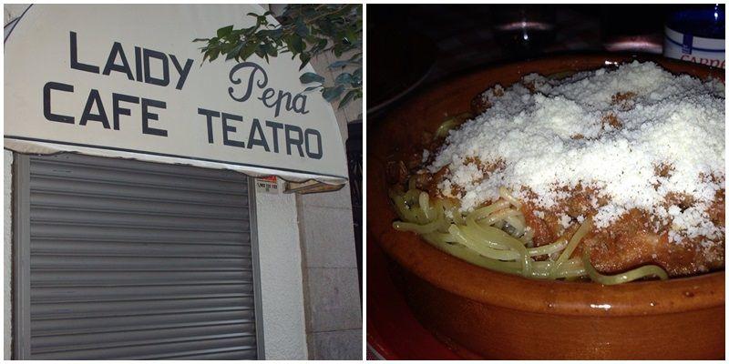 Entrada al Laidy Pepa y sus míticos espaghetti