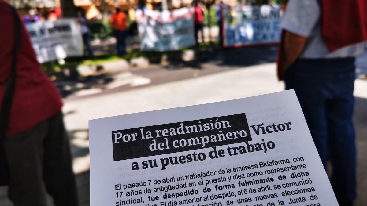 Despedido un trabajador de Bidafarma en Valladolid cuando iba a presentarse a delegado sindical.