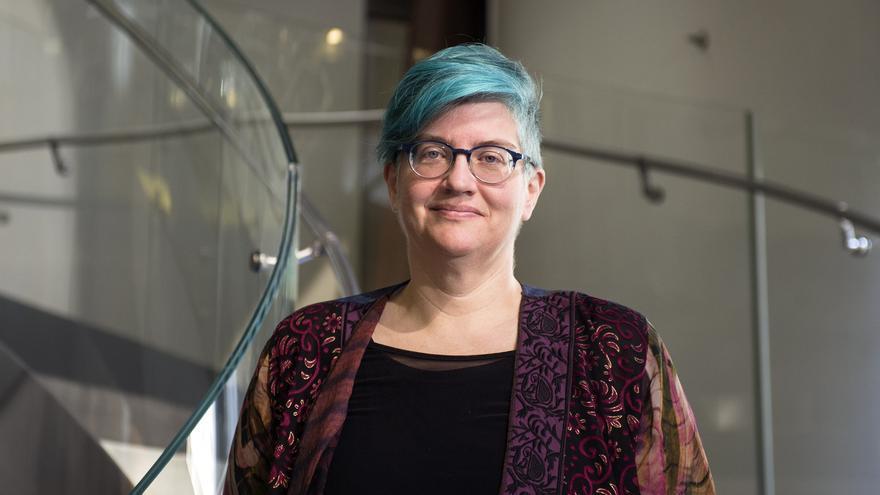 Cathy O'Neal, en la Fundación Telefónica.
