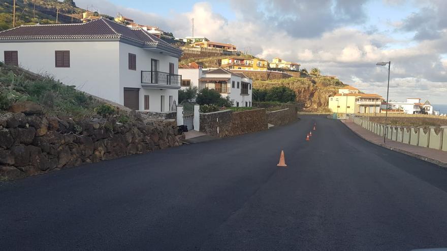 CC en Puntallana  pide que se finalice el asfaltado de Tenagua y se mejore la seguridad vial
