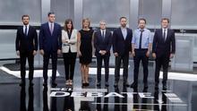 Las 18 falsedades de Sánchez, Casado, Rivera, Iglesias y Abascal en el debate electoral de la Academia de Televisión