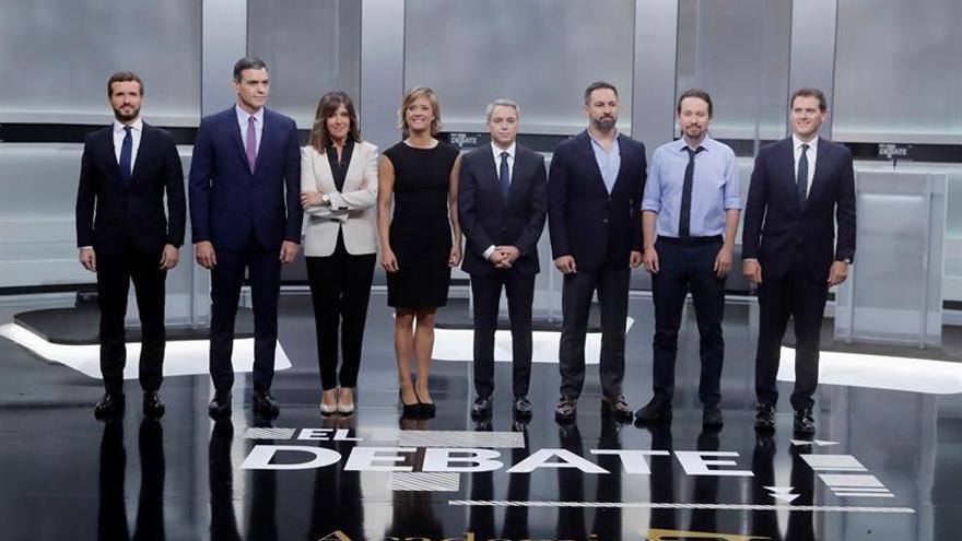 Imagen del debate electoral a cinco