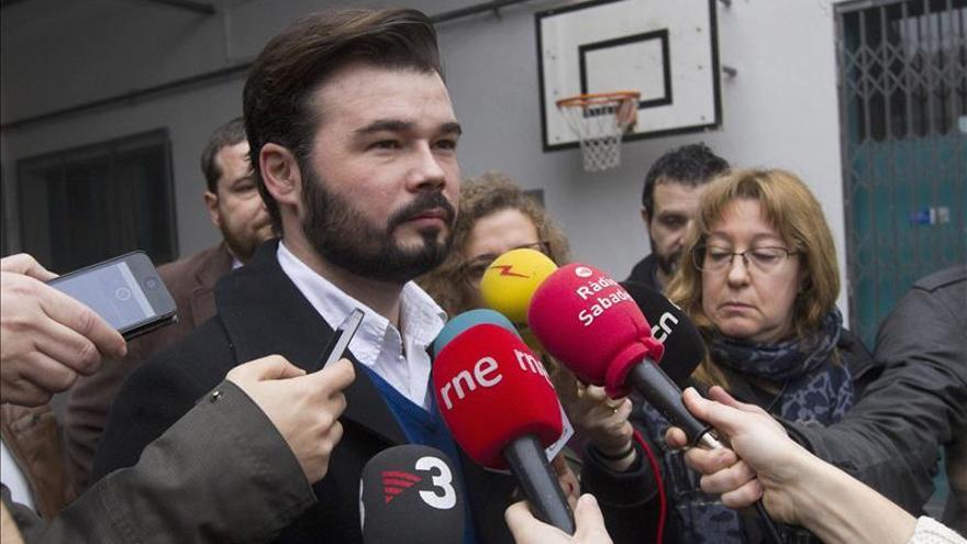 """Rufián (ERC) dice que es """"indecente"""" que el Rey dé """"lecciones de democracia"""""""