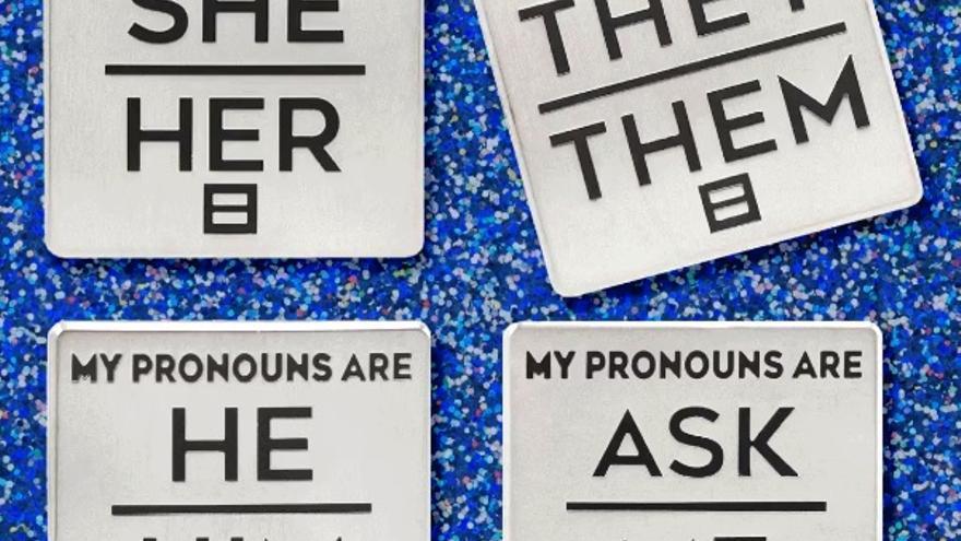 Captura de la un gif de Human Rights Campaign en el que se muestran diferentes pronombres