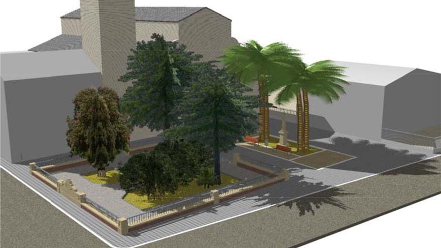Figuración virtual del nuevo jardín