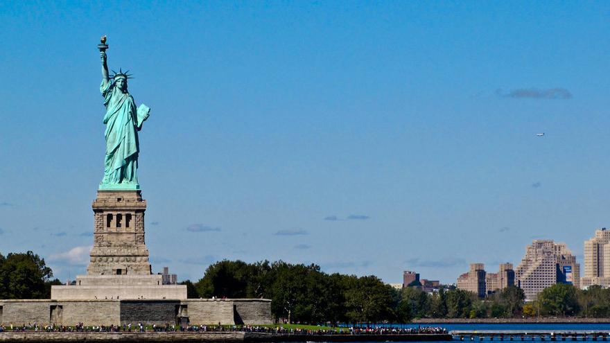 Liberty Island desde el Río Hudson. GRACIELA BERRINO