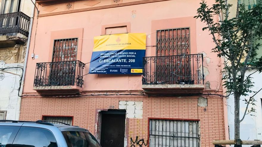 Una de las viviendas del Cabanyal que se van a rehabilitar