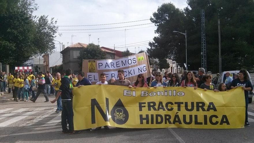 Manifestación contra el fracking en El Bonillo (Albacete) / Foto: CGT Villarrobledo