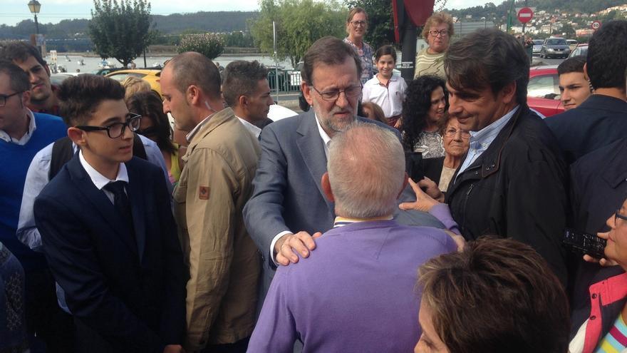 """Rajoy, """"animado"""", augura un buen resultado de Feijóo y proclama: """"España viene luego"""""""