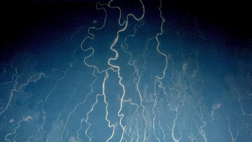 Vista del delta del Níger desde el espacio