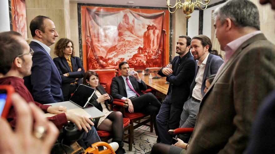 PSOE y Unidas-Podemos, juntos