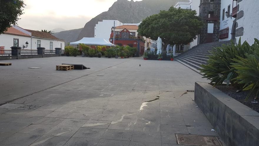 Plaza de Santo Domingo, en Santa Cruz de La Palma.