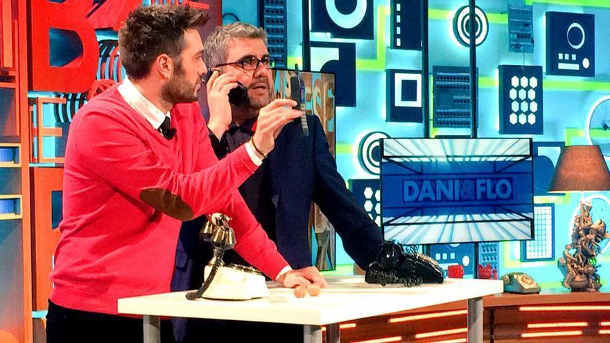 Dani Martínez y Florentino Fernández en el estreno de 'Dani&Flo'