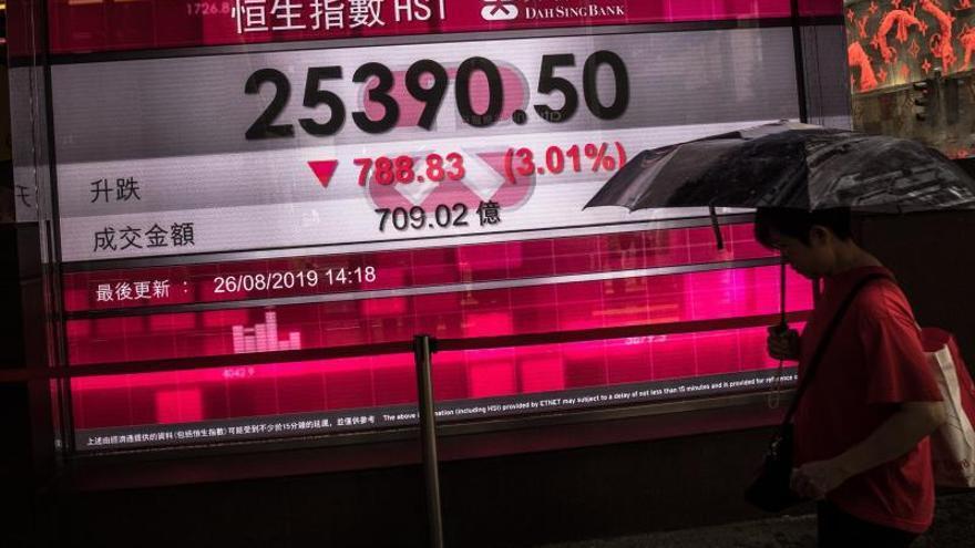 El Hang Seng cierra en rojo y continúa su racha a la baja