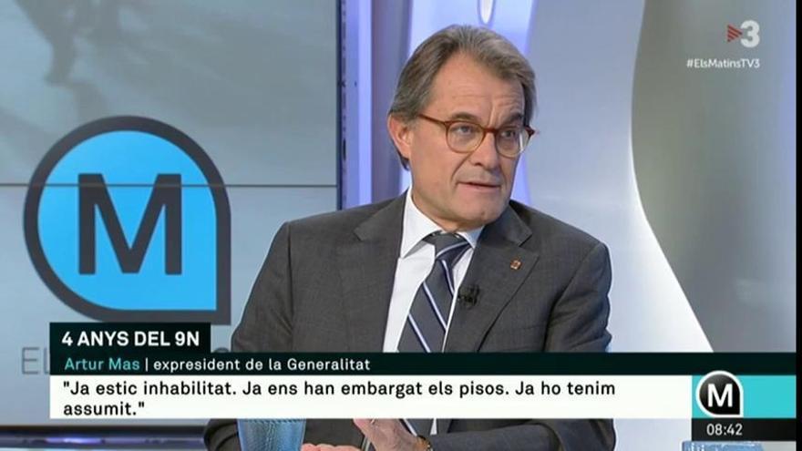 """Artur Mas pide aprovechar el juicio a los soberanistas para """"desgastar"""" al Estado"""
