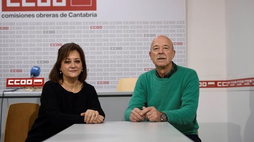 Representantes del sector público de CCOO Cantabria.| Pedro Puente Hoyos