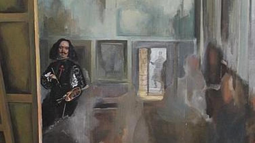 'Borrando las Meninas', cuadro del pintor Áureo