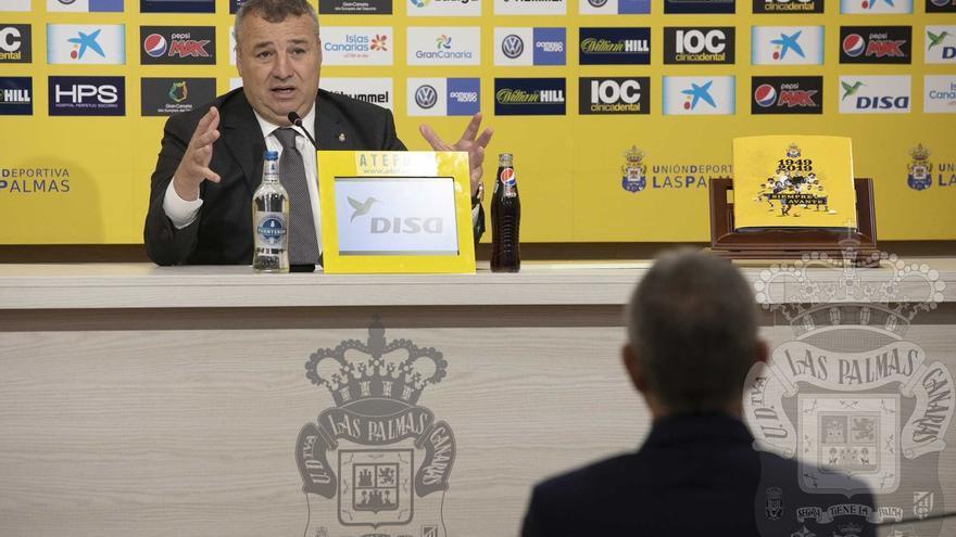 Miguel Ángel Ramírez durante su comparecencia de este lunes para presentar la campaña de abonados de la próxima temporada