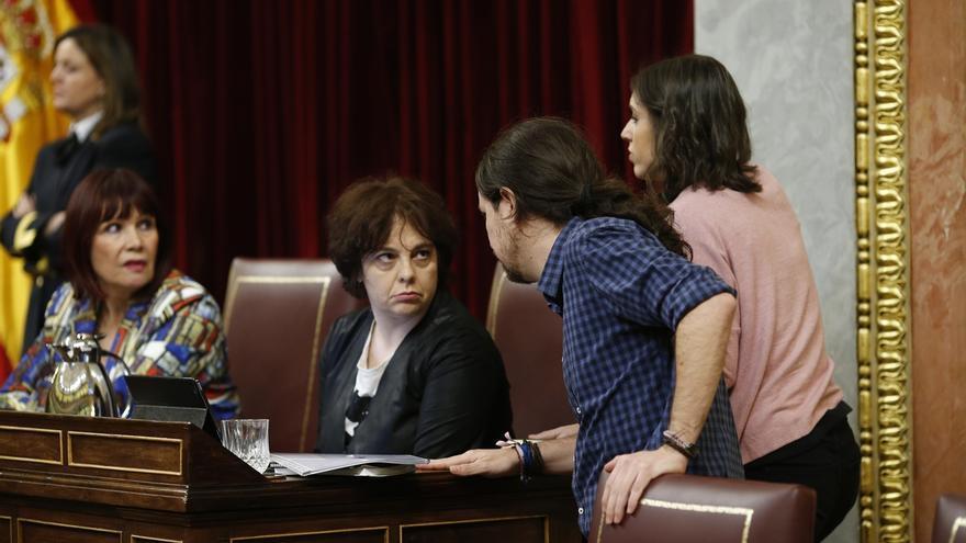 Los miembros de Podemos en la Mesa de Congreso elevan queja al Gobierno por la protesta contra su asamblea de Zaragoza
