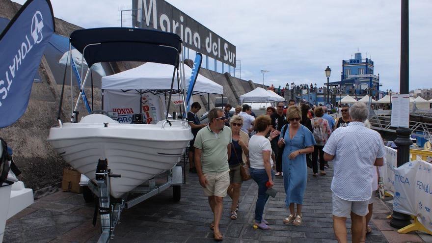 La gran fiesta del mar de Marina del Sur llena de público Las Galletas