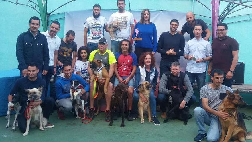 Participantes en la II Copa Canicross.
