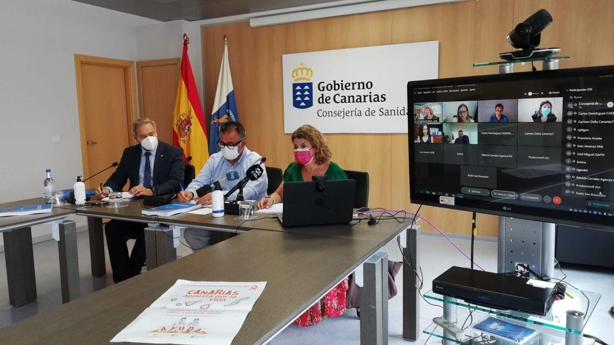 Presentación del nuevo 'Programa de prevención de la conducta suicida en Canarias'.