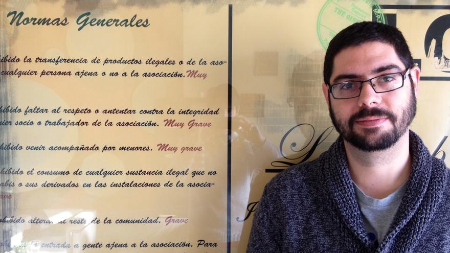 El integrante de Representación Cannábica de Navarra, Ramón Morcillo.