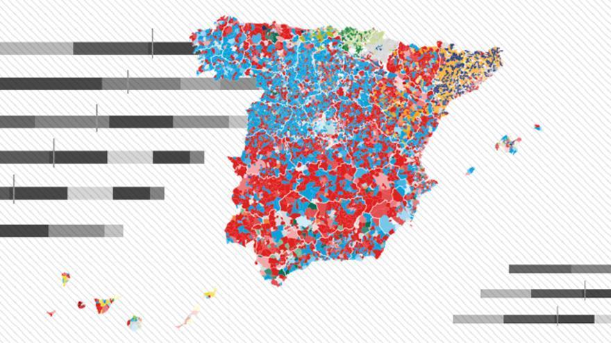 Mapa de resultados de las elecciones municipales
