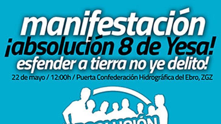 El domingo habrá una manifestación de apoyo en Zaragoza.