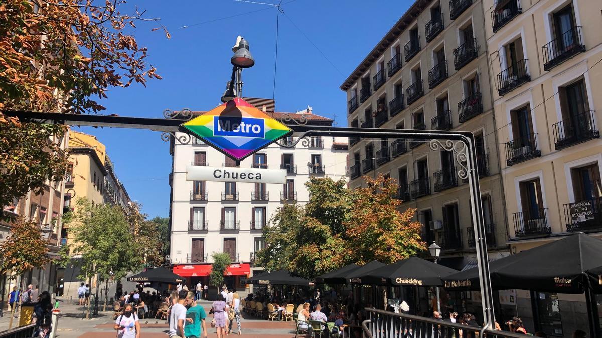 La plaza de Chueca, este domingo