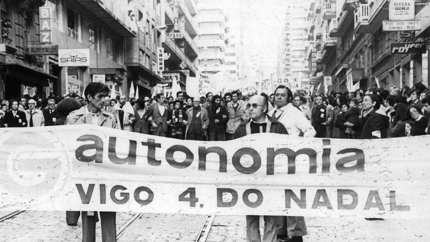 La manifestación celebrada en Vigo el 4 de diciembre de 1977 reunió a casi 300.000 personas