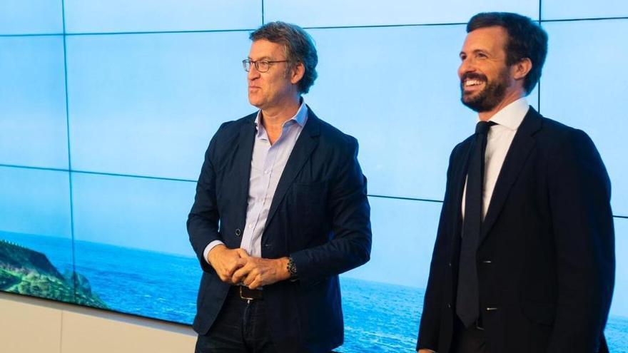 Feijóo y Casado, tras la reunión del comité ejecutivo nacional del PP.