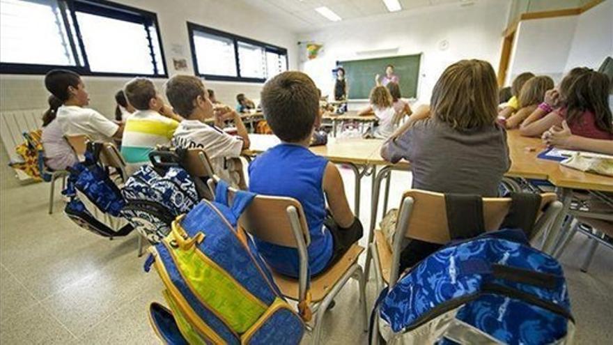 Niños de primaria durante una de sus clases.