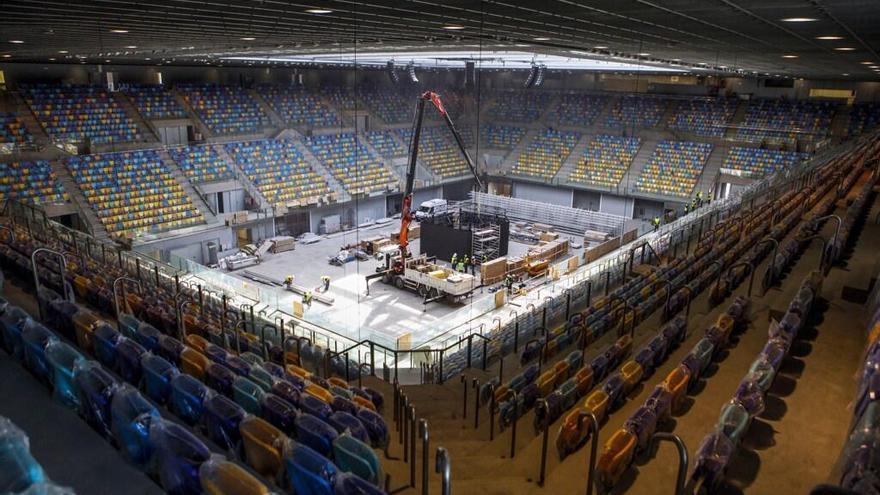 Obras del Gran Canaria Arena.