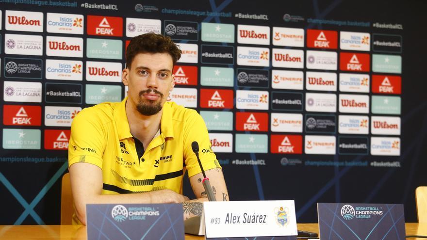 Álex Suárez, durante una comparecencia de prensa previa a un duelo europeo