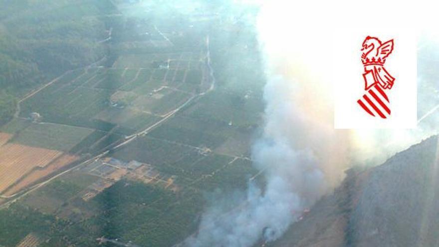 Incendio en La Casella (Alzira) / Generalitat Valenciana