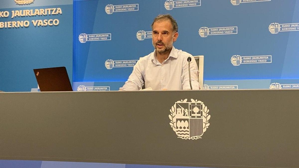 Ignacio Garitano, en su comparecencia ante los medios de comunicación