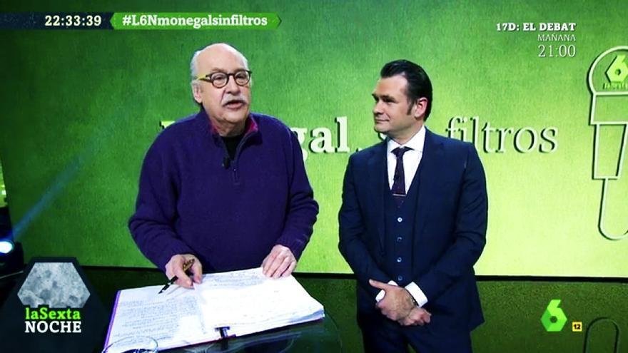 """Ferrán Monegal junto a Iñaki López en """"laSexta Noche"""""""