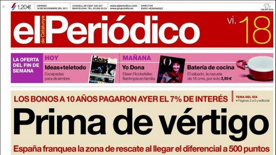 De las portadas del día (18/11/2011) #11