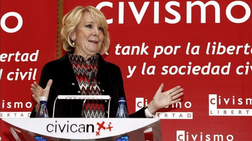 """Aguirre afirma que los sindicatos """"son una casta cerrada"""" y no colaboran contra el paro"""