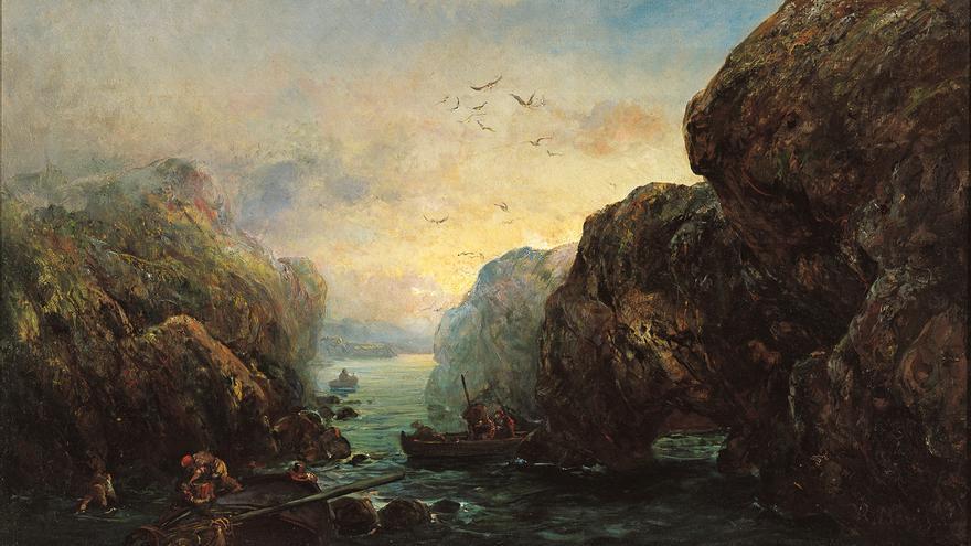 'Costa acantilada con mariscadores', de Ramón Martí Alsina