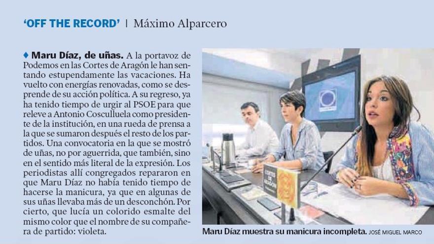 Captura del Heraldo de Aragón del 29 de agosto de 2016.