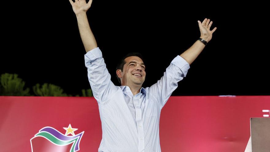 Alexis Tsipras, en un mitin en Atenas el 13 de septiembre. / Yorgos Karahalis / AP Photo