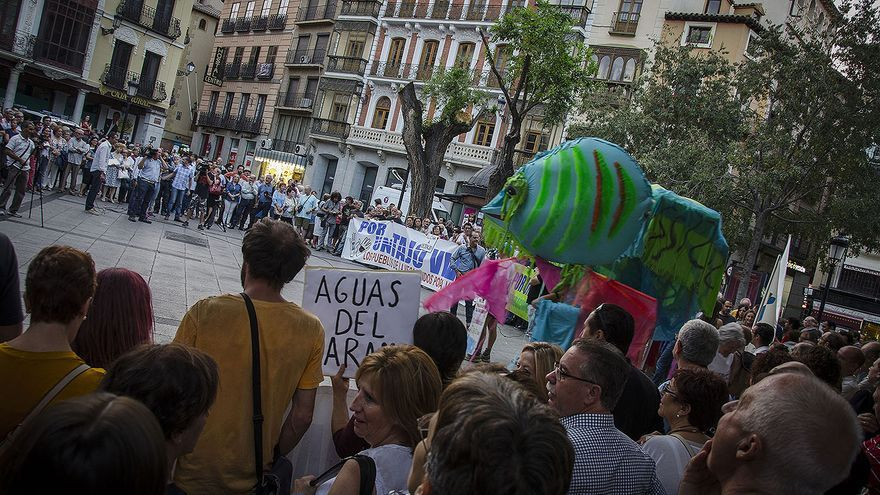 Manifestación en contra del trasvase en Toledo